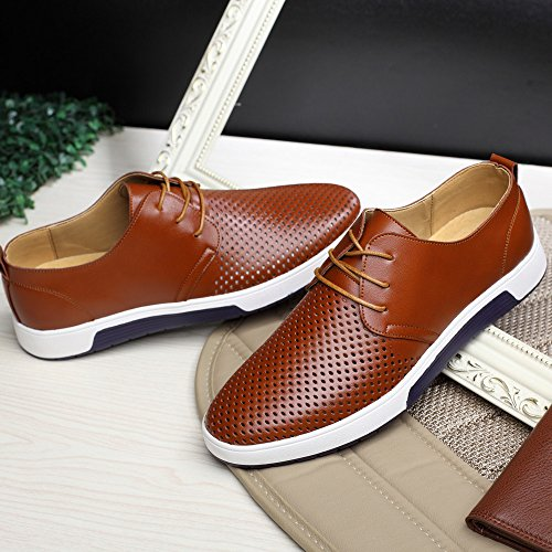 e438e8d171902 Summer Style SFE Men's Summer Breathable Business Leisure Hollow Solid  Leather Shoes