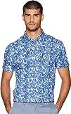 Ben Sherman Men's Short Sleeve Tropic Plaid Shirt Washed Blue Large