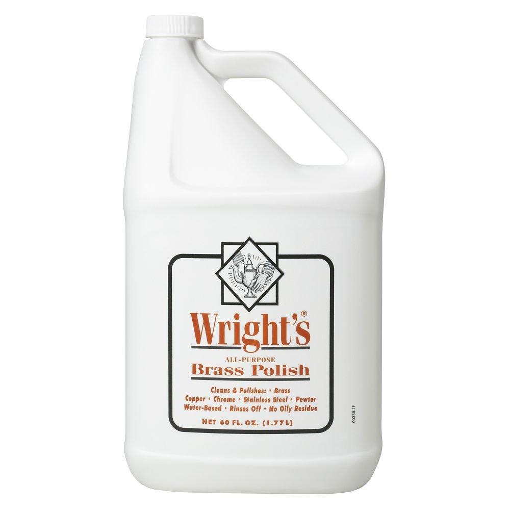 Wright's 11121-00338 60 oz Liquid Brass Polish - 4 / CS by Wieman