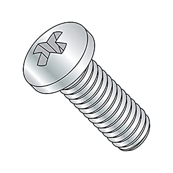 Fully Threaded Steel Pan Head Machine Screw Pack of 25 Meets JIS B1111 Imported Zinc Plated #2 Phillips Drive M5-0.8 Thread Size 35 mm Length