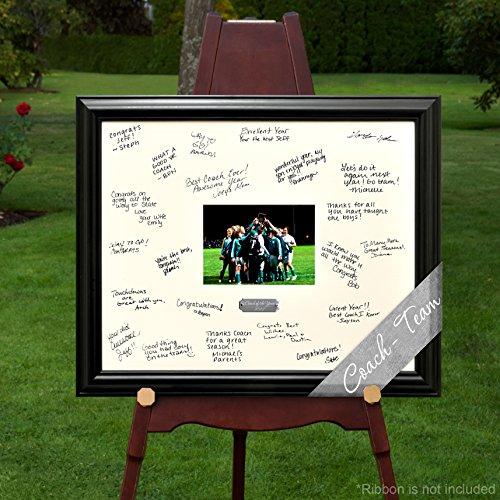 Personalized Team Signature Frame (Keepsake Signature Plate)