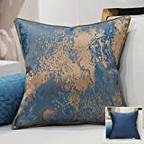 HOMEE a New Modern Chinese Chip-Pillow Sofa Pillow Back Lumbar Pillow Cushion Large Armful Pillows ,45X45Cm, Kit 3 Diagonal Blue,Sink into the blue,45X45cm