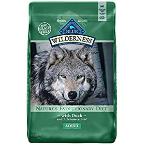 Blue Buffalo Wilderness High Protein Grain Free, Natural Adult Dry Dog Food, Duck 24-lb 75