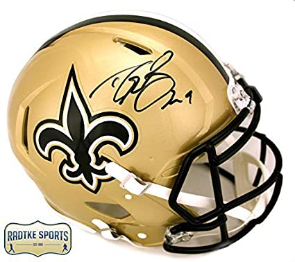 Drew Brees Autographed Signed New Orleans Saints Riddell Authentic Speed  Full Size NFL Helmet 530b5e2cc