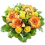 Blumenversand - Blumenstrauß - zum Geburtstag - Sonnenstrahl mit leuchtenden Gerbera Sunspot - mit Gratis Grußkarte zum Wunschtermin versenden