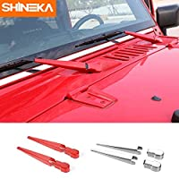 Fumak Front Windshield Wipers Cover Tail Window Wiper Cover Trim for Jeep Wrangler JK 2007-2016 Car Styling