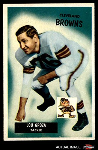 1955 Bowman # 37 Lou Groza Cleveland Browns-FB (Football Card) Dean's Cards 5 - EX Browns-FB (1955 Bowman Football)