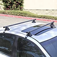"48"" Telescopic Universal Car Top Roof Cross Bars Crossbars Luggage Cargo Rack by Ladder Rack"