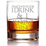That's What I Do I Drink & I Know Things Engraved 10-ounce Rocks Glass