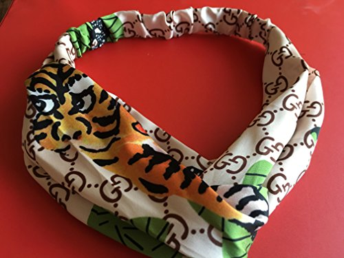 Price comparison product image HOT!Hair Bands Wraps Blooms Print Headbands Cross Bandage HairBands (tiger green)