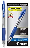 Pilot G2 Retractable Premium Gel Ink Roller Ball Pens, Ultra Fine Point, Blue Ink, Dozen Box -31278