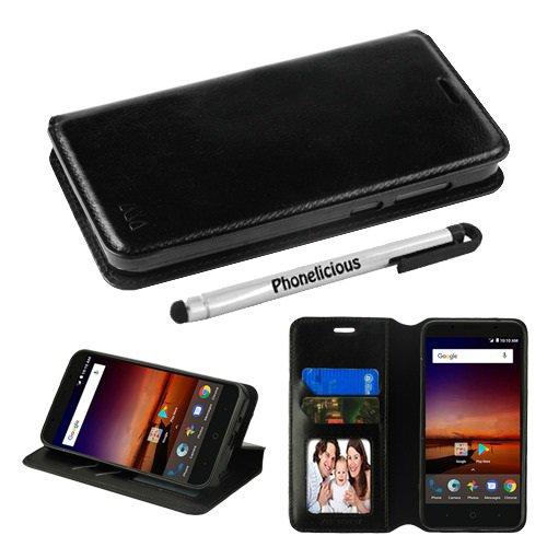 Phonelicious Wallet Case Series For ZTE Zfive GC ZTE Z557BL / ZTE Z558VL,  PU Leather Case Premium Pouch ID Credit Card Cover Flip Folio Book Style