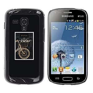 "Pulsar Snap-on Series Teléfono Carcasa Funda Case Caso para Samsung Galaxy S Duos S7562 , Bicicletas Hipster enmarcada Vintage minimalista"""