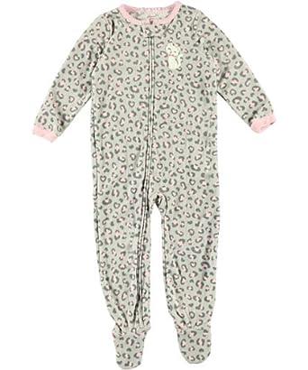 Amazon.com: Carter's Girl 2T-4T Kitty Micro Fleece Footed Sleeper ...