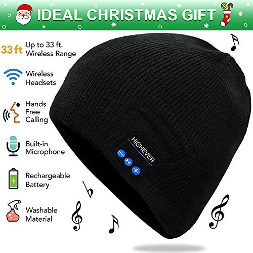 Bluetooth Hat, Bluetooth Beanie with Wireless Stereo Headphones for Men&Women