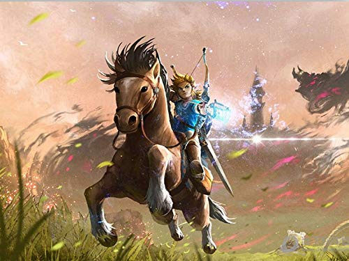 Zimal Diamond Painting Cartoon The Legend of Zelda Ocarina of Time Breath of The Wild Art Horse Painting Home Wall Decor 11.8 X 15.8 Inch (Legend Of Zelda Ocarina Of Time Owl)