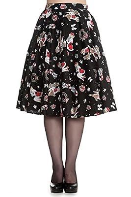 Hell Bunny Blitzen Rockabilly Christmas 50's Skirt