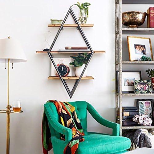 壁のシェルフアメリカンスタイルのダイヤモンド3つの棚クリエイティブバーのカフェショップの壁装飾的な壁のマウントシェルフ60 * 20 * 81CM