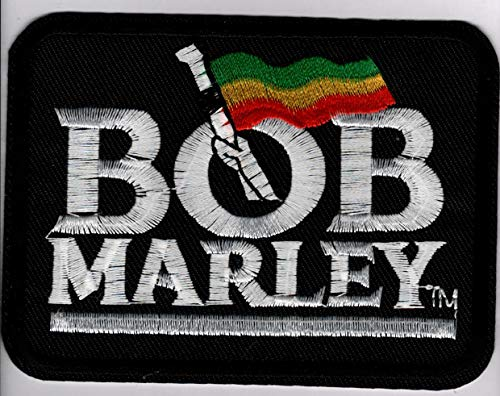 Bob Marley Embroidered Sew or Iron-On Patch 4 x 3