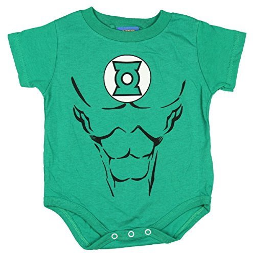 [Green Lantern Uniform Costume Kelly Green Snapsuit Infant Onesie Baby Romper (12 Months)] (Funny Uniform Costumes)