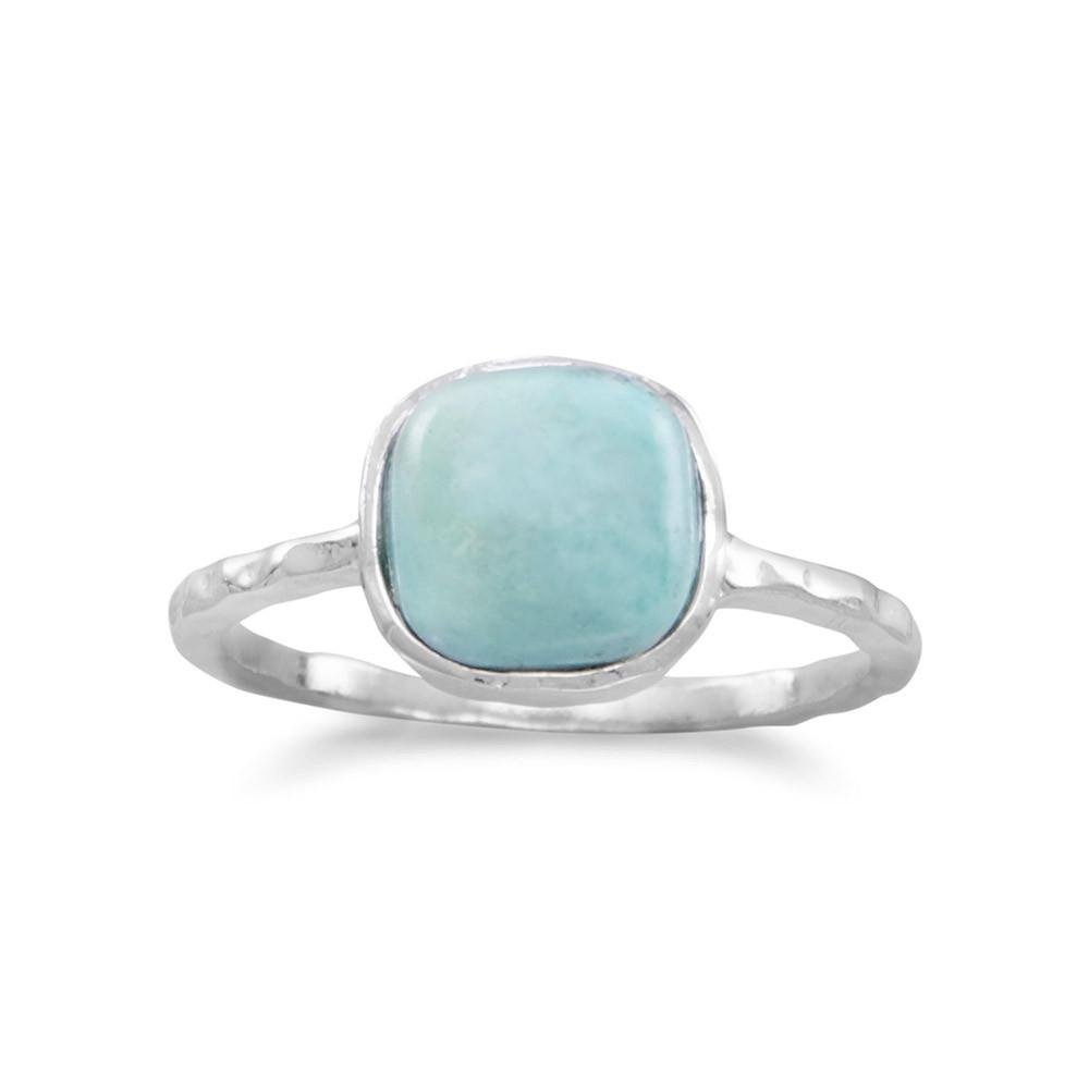 West Coast Jewelry 925 Sterling Silver Turquoise Stackable Ring - Size 9