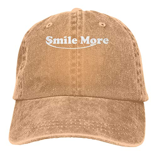775954d22de PMGM-C Smile More Adult Personalize Denim Outdoor Sports Hat Adjustable Baseball  Cap