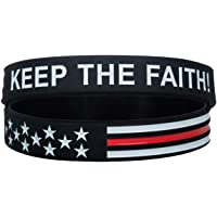 Men Navy Police Women Patriots Navy Thin Blue Line American Power Eagle Silicone Bracelets with American Flag Air Force U.S Wristbands Gifts for U.S Sainstone Air Force USAF
