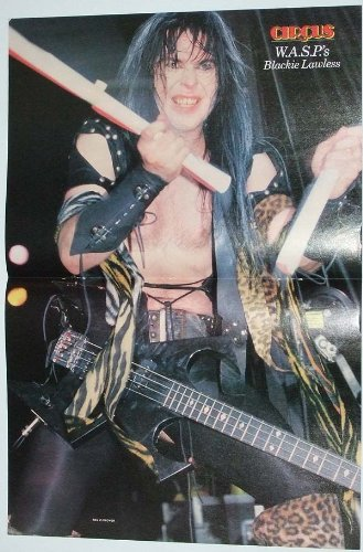 BLACKIE LAWLESS CENTERFOLD POSTER wasp W.A.S.P. We Are Sexual Perverts C