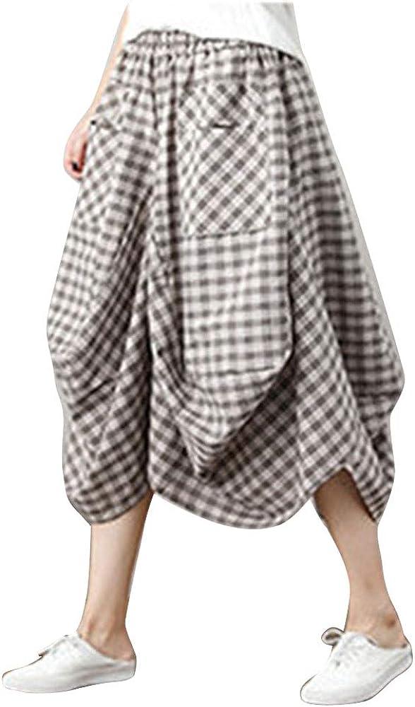 DianShaoA Mujeres Vintage Faldas Étnicas Largas Irregular Falda Larga Volantes Algodón Larga Lino Faldas Abricoté FG: Amazon.es: Ropa y accesorios
