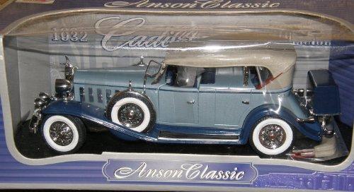 Anson Classic 1932 BLUE Cadillac Sport Phaeton 1:18 Model Car ()