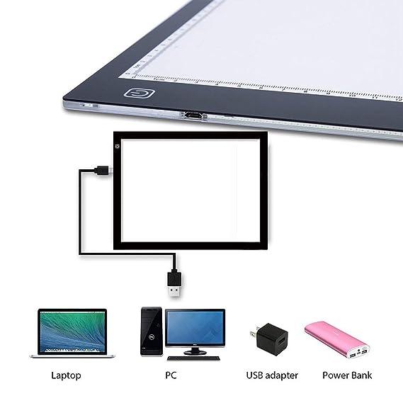 Amazon.com: A3, caja de luz de rastreo con almohadilla ultra ...