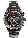 CharlesVogele Men's Quartz 10BAR Analog Date Chronograph Watch