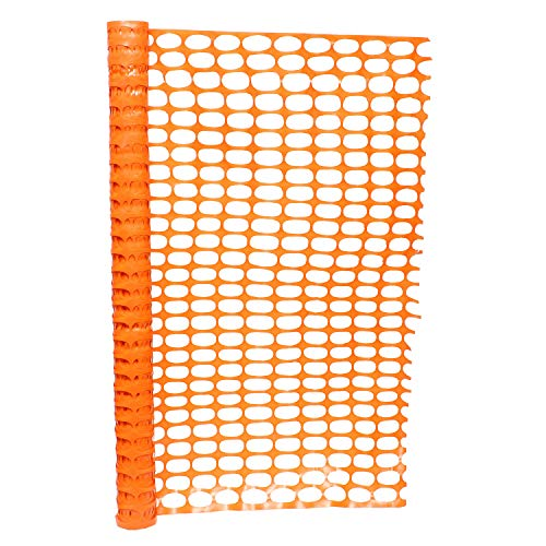 BISupply | 4 FT Safety Fence - 100FT Plastic Fencing Roll for Construction Fencing Pet Fencing and Event Fencing, Orange ()
