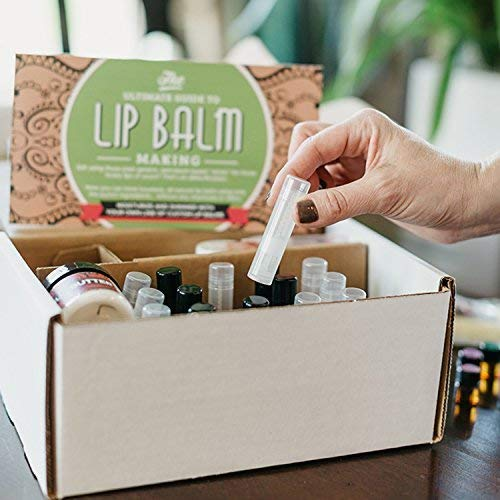 DIY Lip Balm Kit, (73-Piece Set) Homemade, Natural and Organic   Includes Tubes, Beeswax Pouch, Essential Oils, Labels, Stir Sticks & More by DIY Gift Kits (Image #3)