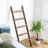 Hallops Blanket Ladder 5 ft. Wood Rustic Decorative