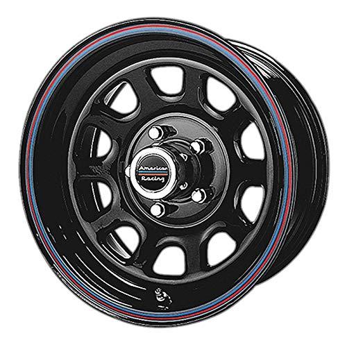 American Racing Custom Wheels AR767 Gloss Black Wheel With Red And Blue Strip (16x7