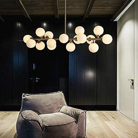 OUPPENG de lujo moderno Rama de lujo moderno de las bolas de cristal de la lámpara pendiente de la luz de la lámpara LED Magic Bean accesorio de iluminación de la sala de estar decoración del hogar