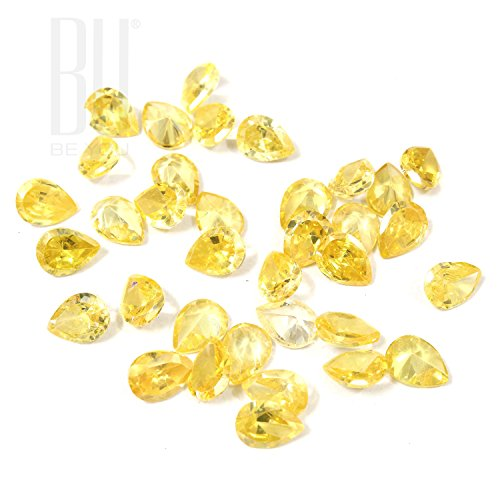 Be You Jaune doré Zircone Cubique AAA Qualité 10x12 mm Diamant Coupe Poire Forme 100 pcs gemme