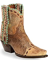 Dan Post Womens Tan Livie Leather Cowboy Boots 6in Laced