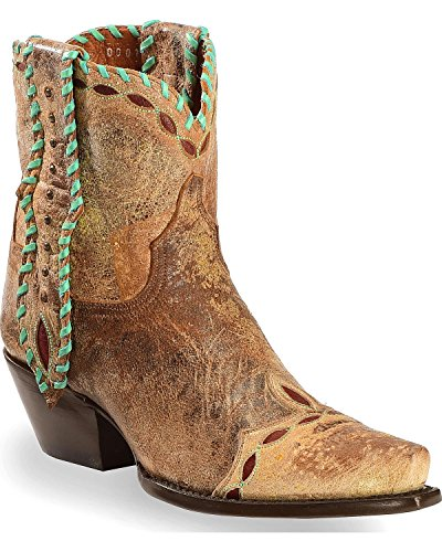 Dan Post Womens Tan Livie Leather Cowboy Boots 6in Laced 7 M