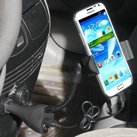 iKross - Soporte para encendedor de coche y cargador universal (2 puertos USB y enchufe extra, incluye cable ...