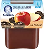 Gerber 2nd Foods Prunes with Apple, 4 Ounce Tubs, 2 Count (Pack of 8)