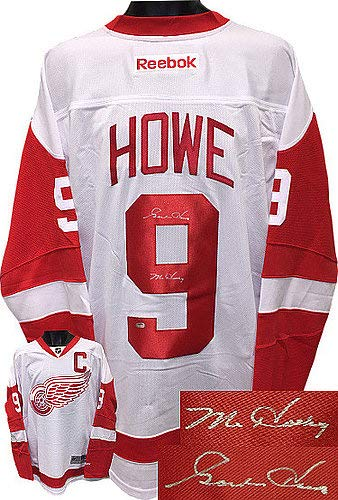 7580bc5350a Gordie Howe Signed Autograph Detroit Red Wings White Reebok Premiere  Licensed Jersey XL Mr Hockey
