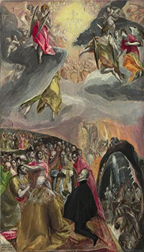'El Greco - The Adoration Of The Name Of Jesus,late 1570s' Oil Painting, 20x35 Inch / 51x89 Cm ,printed On High Quality Polyster Canvas ,this High Resolution Art Decorative Prints - Brown Orle