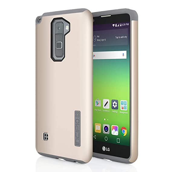 sports shoes 6d89f 6e71c Incipio LG G Stylo 2 Case, [Hard Shell] [Dual Layer] DualPro Case for LG G  Stylo 2-Champagne/Gray