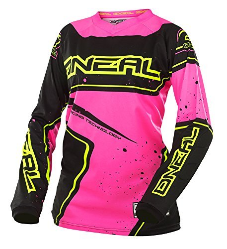 O'Neal Element Womens Racewear Jersey (Black/Pink/Hi-Viz, X-Large) by - Element Oneal Womens