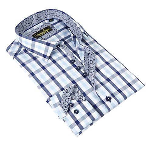 Buy light blue and white checkered dress - 6
