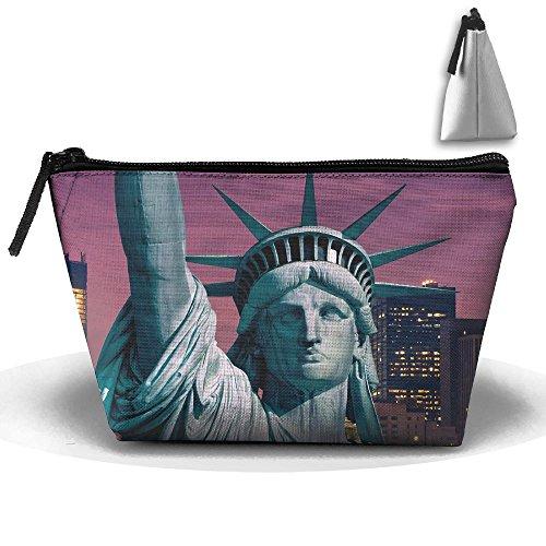 Makeup Bag Trapezoidal Storage Bag Statue Liberty City Porta