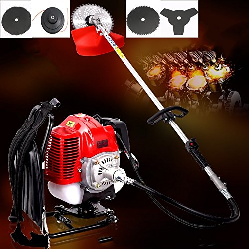 2017 5 in 1 Multi tool Backpack Brush cutter 2 stroke 52cc 1.75kw Engine Petrol strimmer Grass cutter factory selling