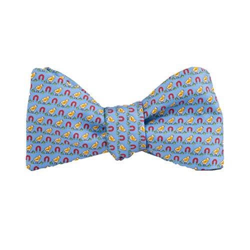 (Peter-Blair Men's Blue Chick Magnet 100% Silk Bow Tie Handmade in USA (39CMB1BT))